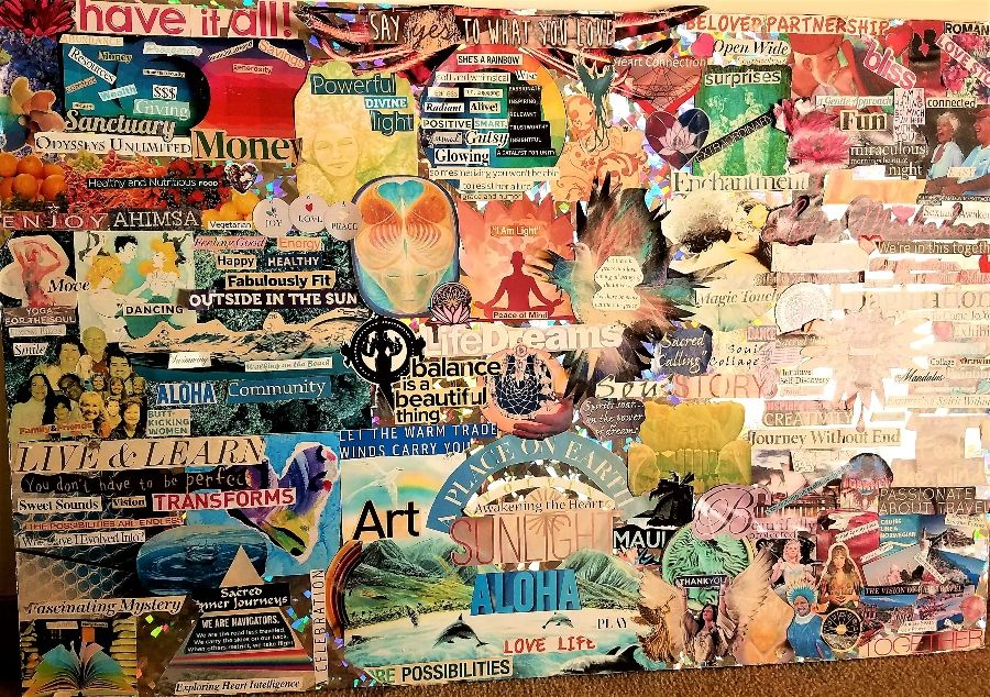 therapeutic art vision board